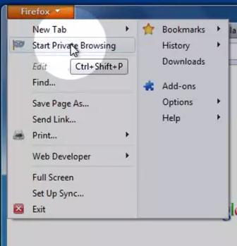 Firefox - PrivateSurfen