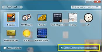 Gadgets/Minianwendungen Windows